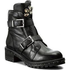 Botki BRONX - 47012-A BX 1417 Black/Gunmetal 188. Czarne buty zimowe damskie marki Bronx, z materiału. W wyprzedaży za 289,00 zł.