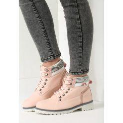 Buty zimowe damskie: Różowe Traperki Winter Lady