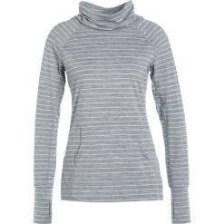 GAP STRIPE MOCK NECK Koszulka sportowa mercury grey. Szare t-shirty damskie GAP, s, z elastanu, z długim rękawem. W wyprzedaży za 149,40 zł.