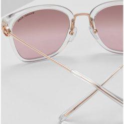 Michael Kors LUGANO Okulary przeciwsłoneczne clear crystal. Szare okulary przeciwsłoneczne damskie lenonki marki Michael Kors. Za 669,00 zł.