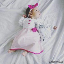 Sukienki niemowlęce: Sukienka niemowlęca Pastelowe Kropeczki