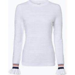 BOSS Casual - Sweter damski z dodatkiem jedwabiu – Waketta, czarny. Czarne swetry klasyczne damskie BOSS Casual, s, z falbankami. Za 599,95 zł.