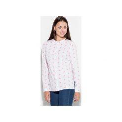 Koszula K400 Wzór 13. Szare koszule jeansowe damskie marki KATRUS, s, z nadrukiem, bez kołnierzyka. Za 119,00 zł.