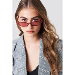 Okulary przeciwsłoneczne damskie: NA-KD Trend Okulary przeciwsłoneczne retro – Red