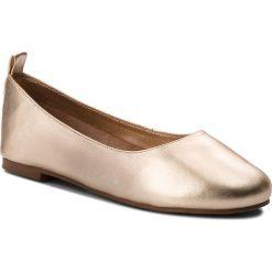 Baleriny KAZAR - Nereza 29432-11-13 Złoty. Białe baleriny damskie marki Kazar, ze skóry, na wysokim obcasie, na szpilce. W wyprzedaży za 199,00 zł.