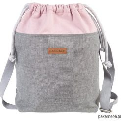 Torebka worek BAGGAGE shopper szara różowa. Czerwone torebki worki Pakamera, duże. Za 129,00 zł.