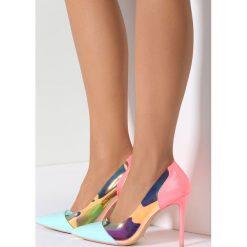 Szpilki: Niebiesko-Różowe Neonowe Szpilki Demi