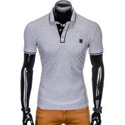 KOSZULKA MĘSKA POLO BEZ NADRUKU S920 - SZARA. Szare koszulki polo Ombre Clothing, m, z nadrukiem. Za 49,00 zł.