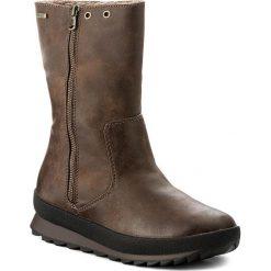Kozaki CAPRICE - 9-26411-29 Brown Antic 309. Brązowe buty zimowe damskie Caprice, ze skóry ekologicznej, przed kolano, na wysokim obcasie. W wyprzedaży za 239,00 zł.