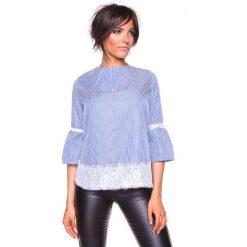"""Koszulka """"Kelly"""" w kolorze niebiesko-białym. Niebieskie bralety La Belle Française, s, w paski, z okrągłym kołnierzem. W wyprzedaży za 152,95 zł."""