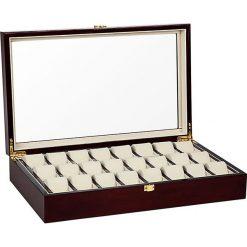 Zegarki męskie: Pudełko w kolorze brązowym na zegarki – 48,1 x 9,9 x 29,5 cm