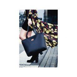 Torba Mili City Bag MCB 2 - czarna. Czarne torebki klasyczne damskie marki Militu, w kolorowe wzory, z bawełny, duże. Za 209,00 zł.