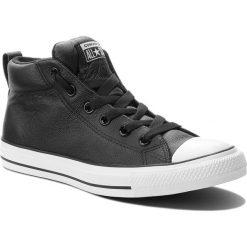 Trampki CONVERSE - Ct Street Mid 143727C Black/White. Czarne trampki męskie Converse, z gumy. W wyprzedaży za 249,00 zł.