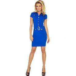 Paris Sukienka szmizjerka z guzikami - CHABROWA. Niebieskie sukienki na komunię marki numoco, na imprezę, s, w kwiaty, z jeansu, sportowe, sportowe. Za 169,00 zł.