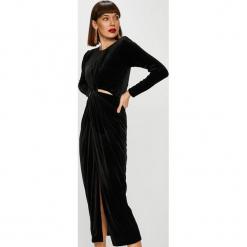 Trendyol - Sukienka. Szare długie sukienki marki Trendyol, na co dzień, z elastanu, casualowe, dopasowane. Za 159,90 zł.
