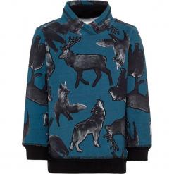 """Bluza """"Samon"""" w kolorze szaro-niebieskim. Niebieskie bluzy chłopięce rozpinane marki Name it Mini & Kids, z bawełny. W wyprzedaży za 49,95 zł."""
