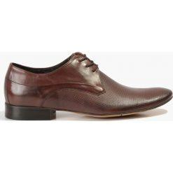 Półbuty brązowe. Brązowe buty wizytowe męskie Badura. Za 159,99 zł.