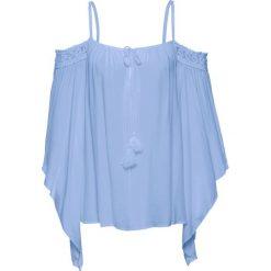 Bluzki damskie: Bluzka z odsłoniętymi ramionami bonprix perłowy niebieski