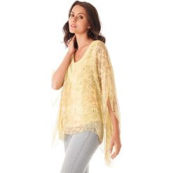 Bluzki asymetryczne: Koszulka w kolorze żółtym