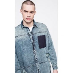 Det - Koszula. Szare koszule męskie na spinki marki DET, l, z bawełny, z klasycznym kołnierzykiem, z długim rękawem. W wyprzedaży za 139,90 zł.