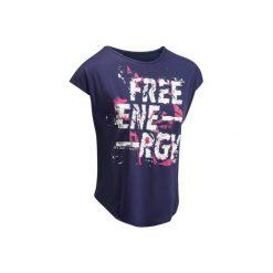 Koszulka fitness cardio 120. Niebieskie bluzki sportowe damskie marki DOMYOS. W wyprzedaży za 24,99 zł.