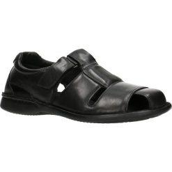 Sandały MARONI. Czarne sandały męskie skórzane Gino Rossi. Za 99,90 zł.