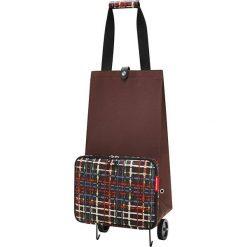 Shopper bag damskie: Wózek zakupowy z kolorowym wzorem – 29 x 66 x 27 cm