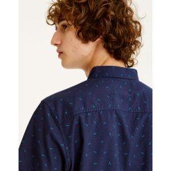 Koszule męskie na spinki: Koszula z krótkim rękawem i nadrukiem
