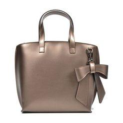 Torebki klasyczne damskie: Skórzana torebka w kolorze brązowym – (S)26 x (W)40 x (G)13 cm
