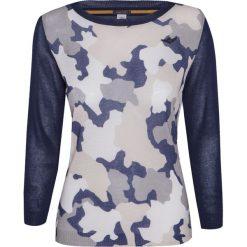 Swetry klasyczne damskie: Sweter AERONAUTICA MILITARE Print|Granatowy