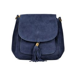 Torebka w kolorze granatowym - (S)20,5 x (W)20,5 x (G)6 cm. Niebieskie torebki klasyczne damskie Bestsellers bags, w paski, z materiału. W wyprzedaży za 149,95 zł.