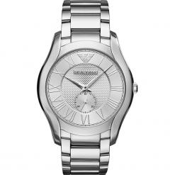 Zegarek EMPORIO ARMANI - Valente AR11084  Silver/Silver. Szare zegarki męskie marki Emporio Armani, l, z nadrukiem, z bawełny, z okrągłym kołnierzem. Za 1059,00 zł.