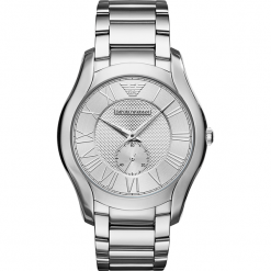 Zegarek EMPORIO ARMANI - Valente AR11084  Silver/Silver. Szare zegarki męskie Emporio Armani. Za 1250,00 zł.