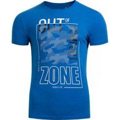 T-shirt męski TSM617 - niebieski melanż - Outhorn. Czarne t-shirty męskie marki Outhorn, na lato, z bawełny. Za 39,99 zł.
