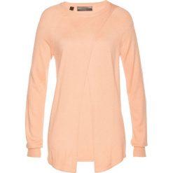 Swetry klasyczne damskie: Sweter bonprix brzoskwiniowy