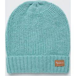 Pepe Jeans - Czapka. Szare czapki zimowe damskie marki Calvin Klein Jeans, na zimę, z jeansu. Za 119,90 zł.