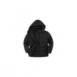 Kurtka chłopięca zimowa z kieszeniami, z kapturem, z polarem. Czarne kurtki chłopięce przeciwdeszczowe TXM, na zimę, z polaru, z kapturem. Za 24,99 zł.