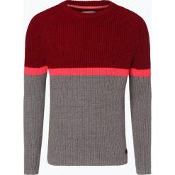 Marc O'Polo Denim - Sweter męski, niebieski. Niebieskie swetry klasyczne męskie Marc O'Polo DENIM, l, w paski, z denimu, z kontrastowym kołnierzykiem. Za 449,95 zł.