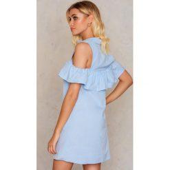 Sukienki: Trendyol Sukienka z falbanką – Blue