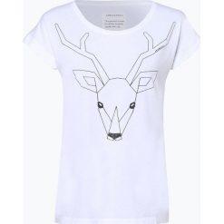 ARMEDANGELS - T-shirt damski – Liv Oh Deer!, czarny. Czarne t-shirty damskie ARMEDANGELS, m, w geometryczne wzory. Za 119,95 zł.