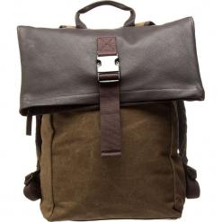 """Plecak """"Punch Casual 93"""" w kolorze brązowym - 35 x 46 x 12 cm. Brązowe plecaki męskie BREE, w paski, z bawełny. W wyprzedaży za 363,95 zł."""