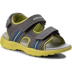 Sandały GEOX - J Vaniett B. B J825XB 015CE C1267 S Dk Grey/Lime. Szare sandały męskie skórzane Geox. W wyprzedaży za 159,00 zł.