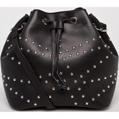 Pieces - Torebka Kamille. Czarne torebki klasyczne damskie Pieces, w paski, z materiału, średnie. W wyprzedaży za 139,90 zł.