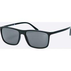 Polo Ralph Lauren - Okulary. Szare okulary przeciwsłoneczne męskie wayfarery marki Polo Ralph Lauren, z materiału, prostokątne. Za 599,90 zł.