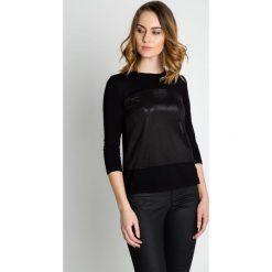 Czarna bluza z rękawem 3/4 BIALCON. Czerwone bluzy damskie marki BIALCON, na co dzień, oversize. Za 99,00 zł.