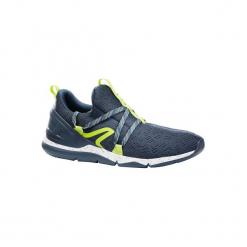 Buty męskie do szybkiego marszu PW 140 szaro-żółte. Szare buty fitness męskie marki NEWFEEL, z poliesteru. Za 79,99 zł.