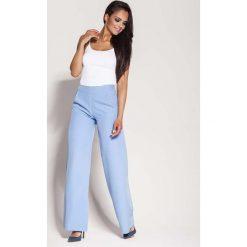 Niebieskie Spodnie z Szerokimi Nogawkami. Niebieskie spodnie z wysokim stanem Molly.pl, z materiału. Za 169,90 zł.