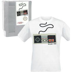 T-shirty męskie: Nintendo NES Controller T-Shirt biały