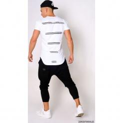 T-shirt lampasy biały. Czarne t-shirty męskie marki Pakamera, m, z kapturem. Za 99,00 zł.