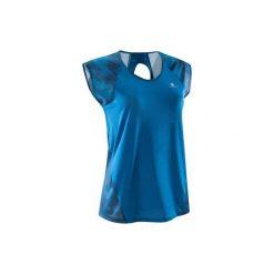 Koszulka fitness kardio krótki rękaw 500 damska. Niebieskie bluzki sportowe damskie DOMYOS. Za 39,99 zł.